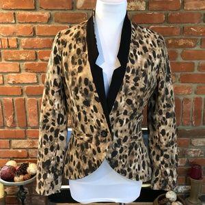 Tailored Fit Lepard Animal Print Blazer
